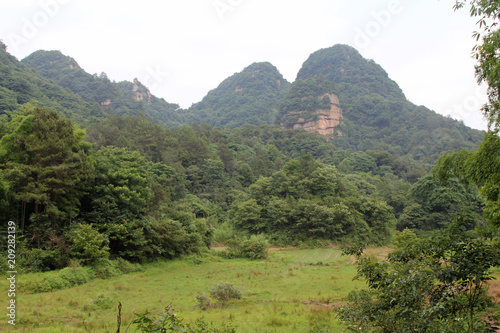 Foto op Plexiglas Pistache Mountain scenery in hunan, China