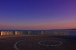 Sunset. View of the sunset and the Mediterranean Sea from the observation deck. Estepona, Andalusia, Spain.