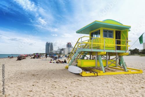 In de dag Centraal-Amerika Landen South Beach in Miami, Florida, USA