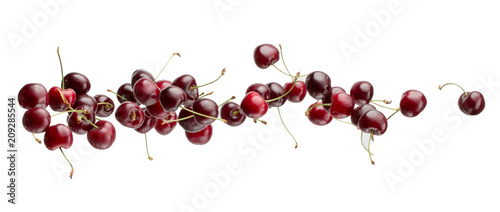 Fotografie, Tablou sweet cherries isolated on a white background