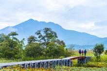 燧ケ岳と上の大堀川橋