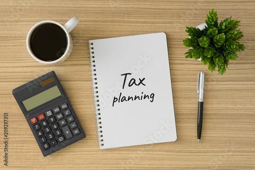 Fotografia, Obraz Tax planning written on notebook