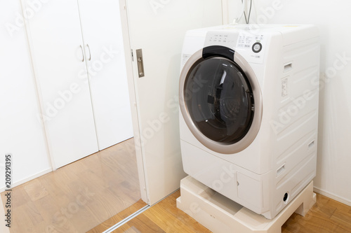 Obraz 家 ドラム式洗濯機 - fototapety do salonu