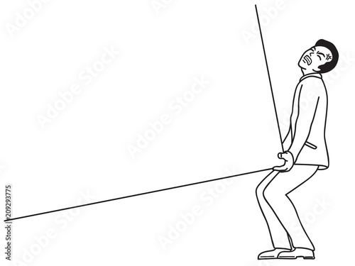businessman pull up heavy burden black and white buy this stock Push Pole Hooks businessman pull up heavy burden black and white