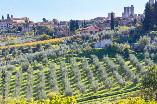 Foto op Canvas Europa San Gimignano, Toscane, Italie