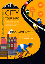 Cycling Poster Design Template...