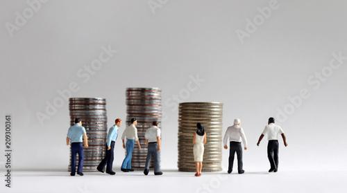 Cuadros en Lienzo  Contemporary concept of economic activity