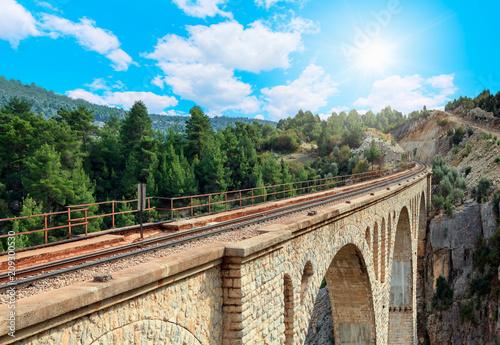 Varda railway bridge, Adana Turkey Canvas Print
