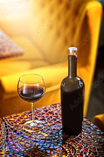 Fotografie, Obraz  dry red wine poured in the restaurant