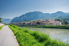 Via Claudia Augusta Cycle Path At San Michele  All'Adige