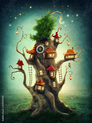 Canvas Print Magic tree house