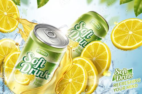 Fototapeta Cool soft drink ad obraz