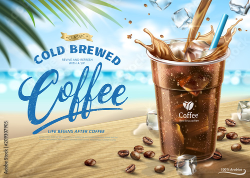 Cold brewed coffee ads