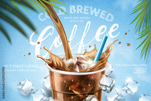 Cold brewed coffee ads Canvas Print