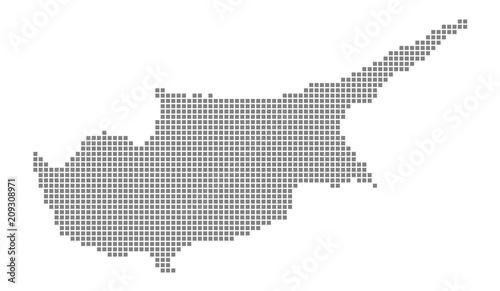 Pixel map of Cyprus. Vector dotted map of Cyprus isolated on white ...