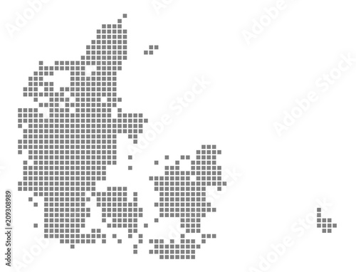 Pixel map of Denmark. Vector dotted map of Denmark isolated on white ...