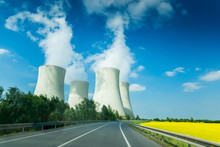 Nuclear Power Plant In Czech Republic. Europe.