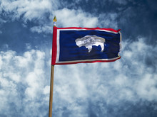 Wyoming Flag USA Flag Silk Wav...
