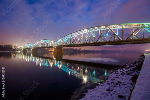 Beautiful bridge in Torun, Poland