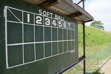 Old Scoreboard. Softball,baseb...
