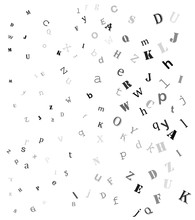 Falling Random Letters, Alphabet Beautiful Background Design