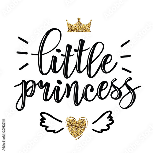 Vector illustration of Little Prince text