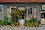 Fototapeta Kwiaty - Witryna sklepowa
