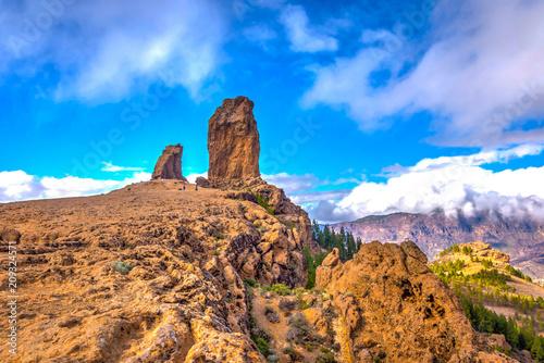 Tuinposter Canarische Eilanden Roque Nublo, Gran Canaria, Spain