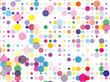 Confetti pattern. Colorful dotted background with circles, dots, point different size, scale