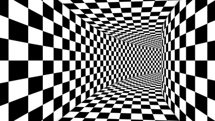FototapetaOptical Square Black and White Illusion
