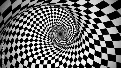 Obraz Optical black and white spiral illusion - fototapety do salonu