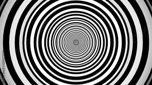Crédence de cuisine en verre imprimé Spirale Symmetrical Optical Tube Effect Fantasy