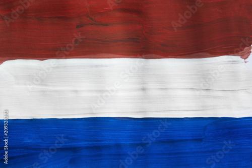 Fototapeta Painted Dutch flag