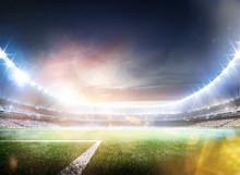 Empty Sunset Grand Soccer Aren...