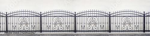 Photo wrought iron fence