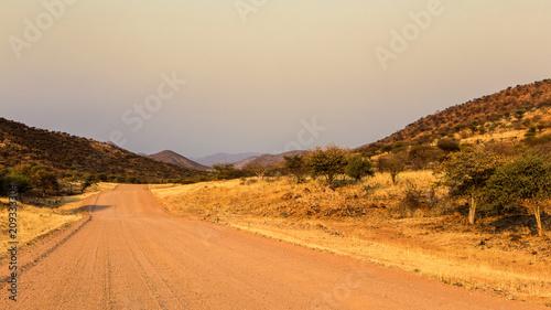 Papiers peints Beige piste namibienne
