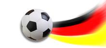 Fussball Deutschland Flagge Fr...