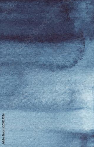 Fotografia, Obraz  watercolor dark blue background