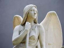 Cemetery Sculpture Angel Sitti...