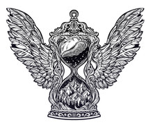 Decorative Antique Winged Hour...