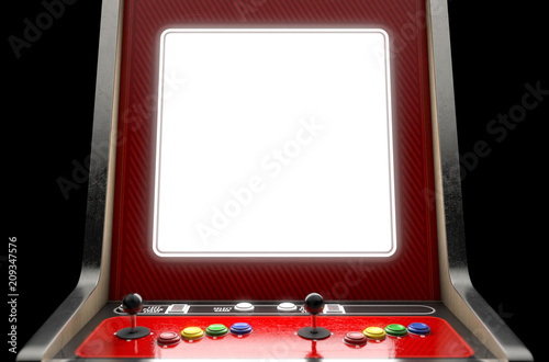 Arcade Machine Screen Canvas Print