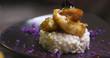 risotto de crevette dans un restaurant gastronomique
