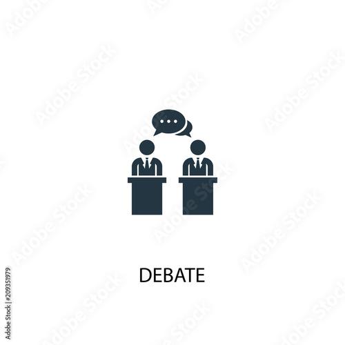 Fotografía  debate icon. Simple element illustration