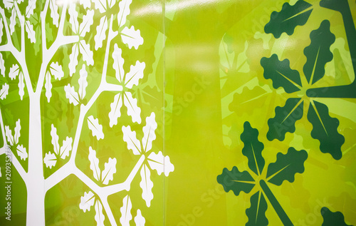 A fragment of wall decoration with expressive ecological styled element Canvas-taulu