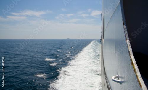 Cruise ship at sea Canvas Print