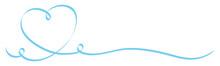 Blue Heart Calligraphy Ribbon
