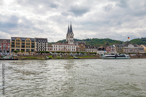 Obraz na plátne famous popular Wine Village of Boppard at Rhine River,middle Rhine Valley,German