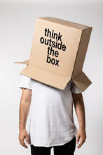 Man With Box On His Head, Thin...