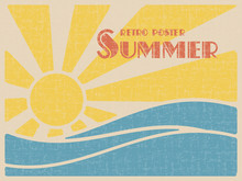 Summer Retro Poster. Sun Over ...