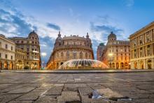 Piazza De Ferrari Square In Ge...
